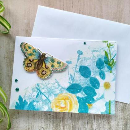 Happy birthday floral greeting card..